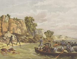 Дж. Кук высаживается в 1770 г. на восточном побережье Австралии