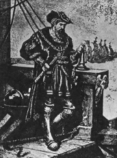 Васко да Гама на флагманском корабле  (со старинного рисунка)