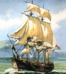 Картина корабля Баунти