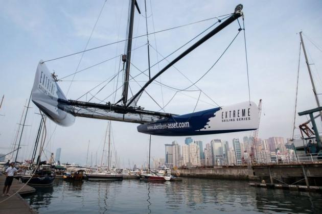 Еxtreme 40 очень легко перевозить, особенно по сравнению с другими яхтами.