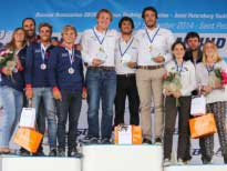 Победители Чемпионата Мира 2014 в классе SB 20.
