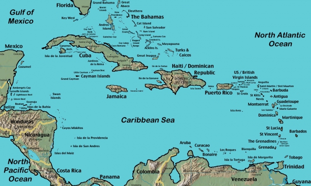 Карибские острова.