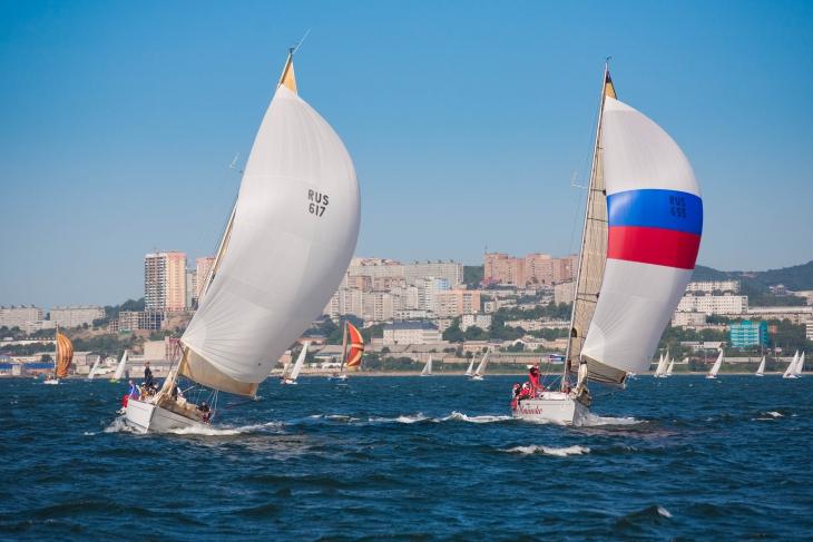 Гавань во Владивостоге, регата Кубок залива Петра Великого