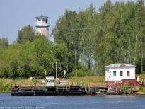 Одна из двух сохранившихся на канале имени Москвы паромных переправ