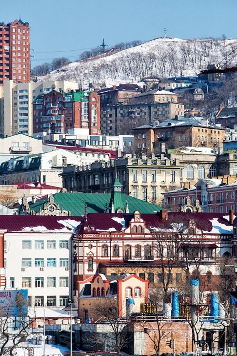 Городская перспектива. Седов ошвартовался во Владивостоке, 28 января 2013
