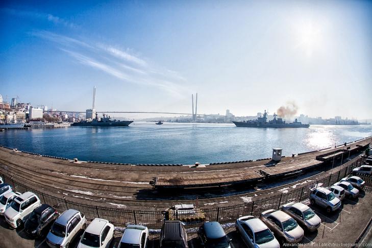 Ракетные крейсеры. Седов ошвартовался во Владивостоке, 28 января 2013