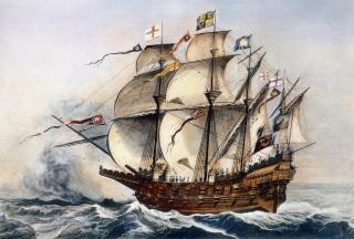 рисунок корабля Великий Гарри