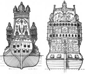 корабли Ла Куронн и Sovereign of the Seas