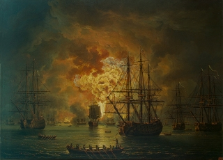 ночь в Чесменское сражение