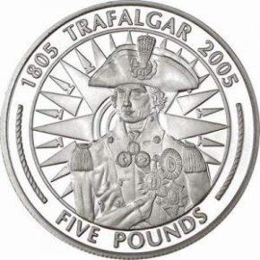 Монета Трафальгарская битва 1805 год
