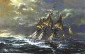 Картина с фрегатом Паллада