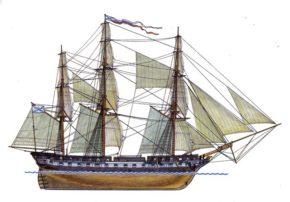 Фрегат Паллада, спуск на воду 1832 год