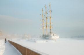 Фотография российского парусника Мир
