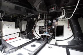 Внутри яхты команды Абу-Даби, ставшей лучшей в 2009 году. Volvo Ocean Race