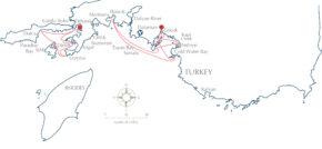Регата Gocek Race Week. Гёчек находится совсем рядом с Мармарисом и Родосом - местами проведения других крупных средиземноморских регат
