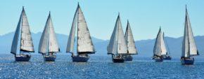 Флот яхт-участниц регаты Эллада в 2011 г.
