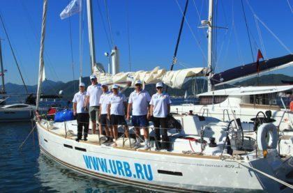 Один из российских экипажей, участвующий в регате Marmaris International Race Week
