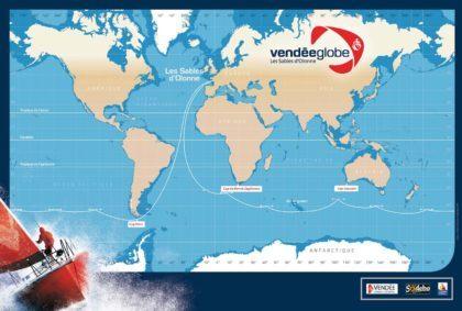 Маршрут одиночной регаты Vendee Globe