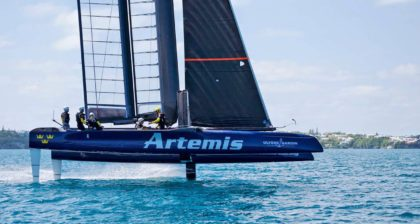 Катамаран АС 45 шведской команды Artemis Racing
