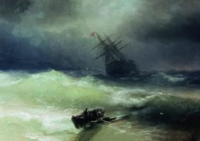 Картина Айвазовского Буря, 1886 год