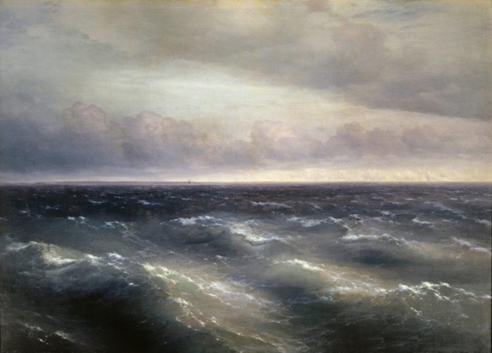 Картина Айвазовского Черное море, 1881 год