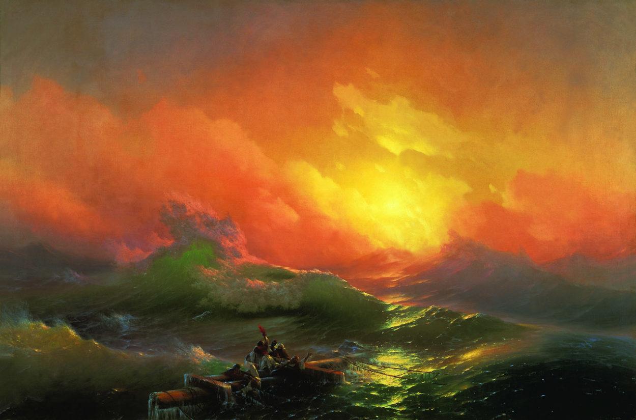 Картина Девятый вал, 1850 год