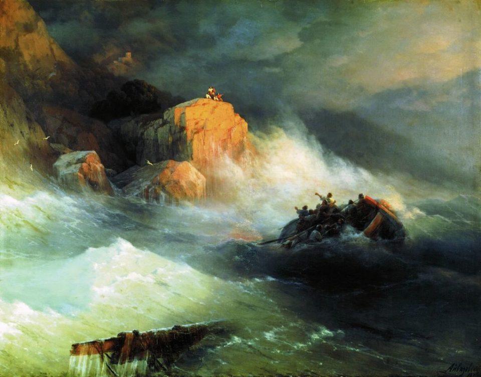 Картина Айвазовского Кораблекрушение, 1876 год