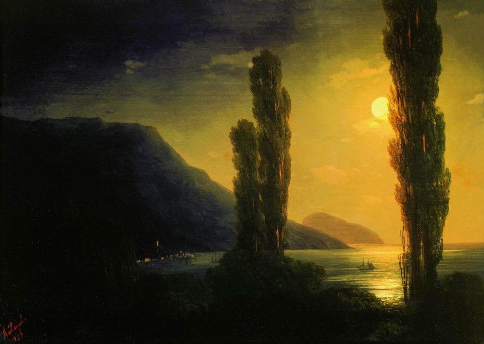 Картина Айвазовского Лунная ночь, 1863 год