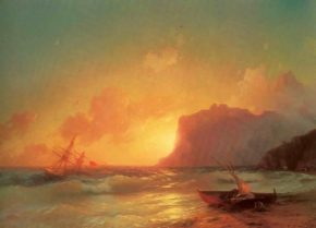 Картина Айвазовского Море. Коктебельская бухта, 1853 год
