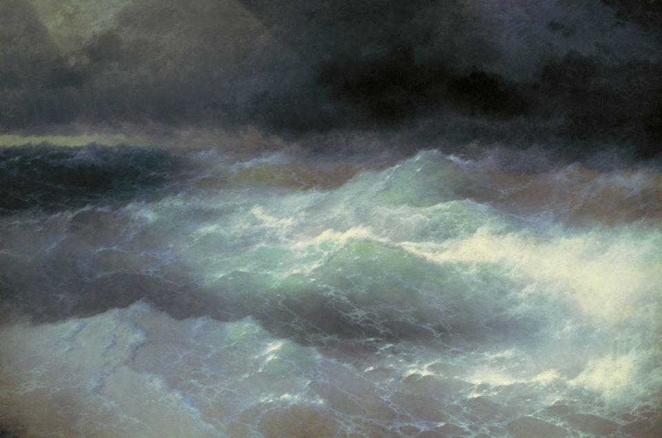 Картина Айвазовского Среди волн, 1898 год