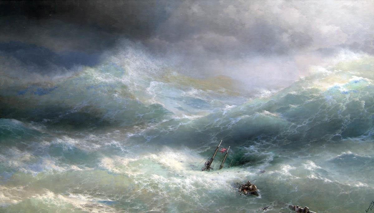 Картина Волна, 1889 год