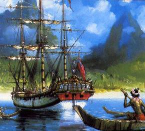 торговля аборигенов с экипажем Индевора при первом путешествии Кука