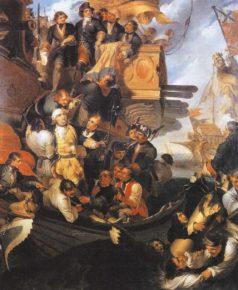 Пленение Эреншельда после боя.