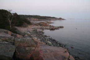 Вид со скалистых берегов полуострова Гангут (теперь Ханко).