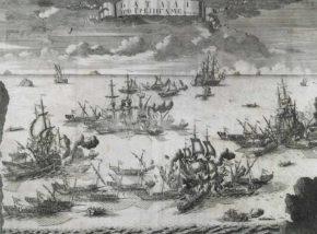 Российские галеры в битве при Гренгаме, 1720 г.