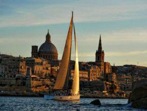 Сказочный вид мальтийской гавани.