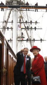 Английская королева на открытии Катти Сарк