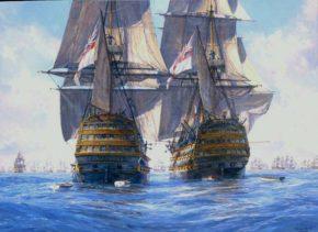 Картина сражения корабля Виктори