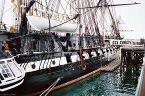 Фото американского парусного корабля Constitution
