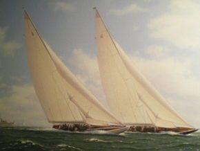 Кубок Америки 1937 года. Гонка между 2 красивейшими парусными яхтами Ranger и Endevour II