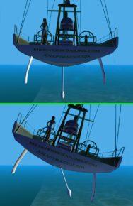 Механизм действия качающегося киля яхты Open 60