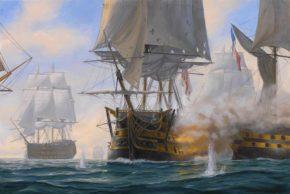 Картины и фото кораблей в Трафальгарском сражении